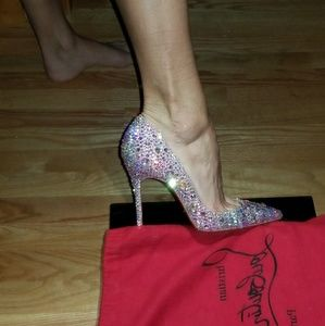 Christian louboutin iriza swarovski strass heels